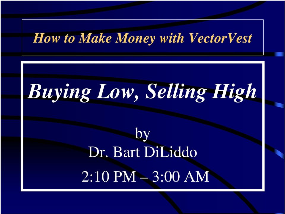 Selling High by Dr.