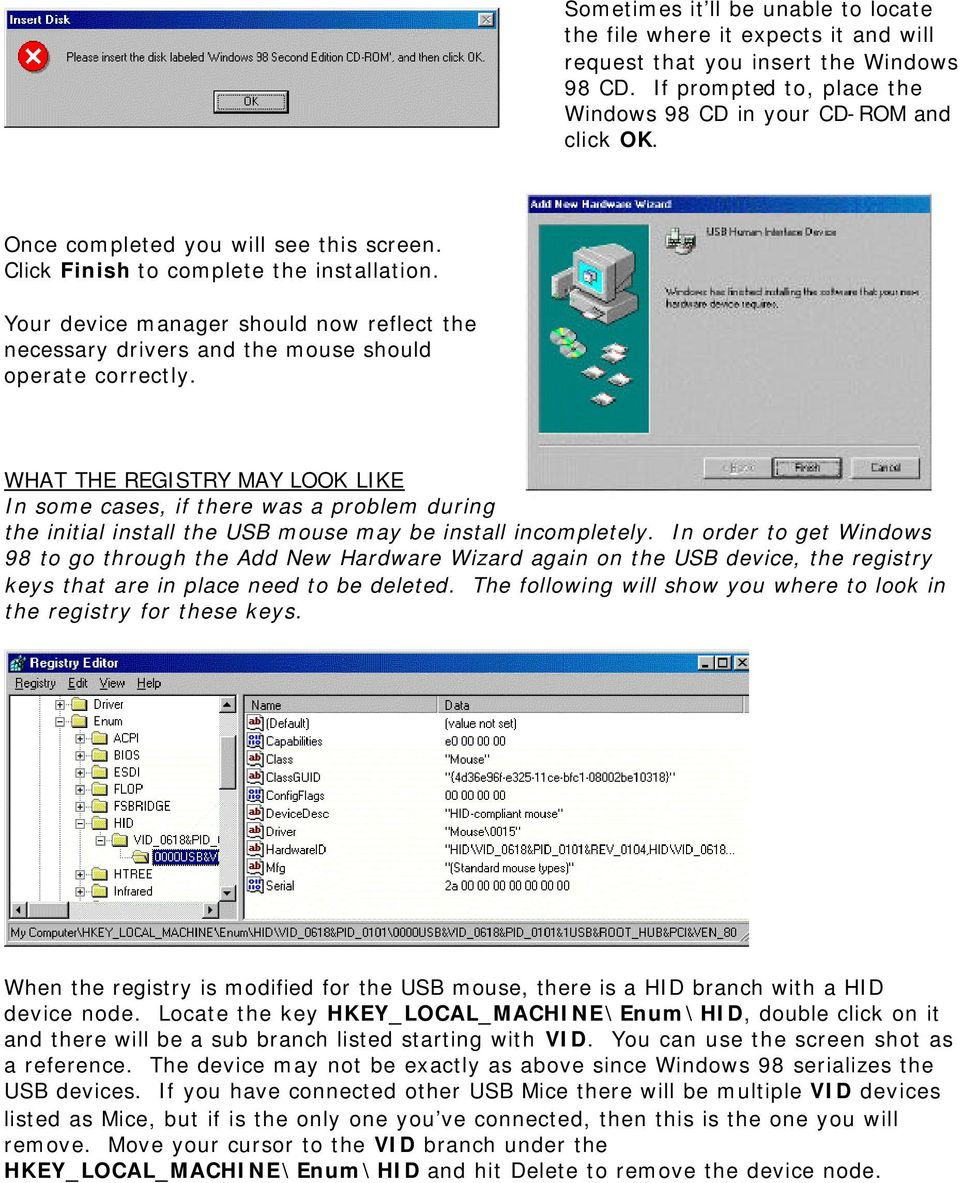 Windows 98 USB TROUBLESHOOTING REFERENCE Last Updated 05/30/00 - PDF