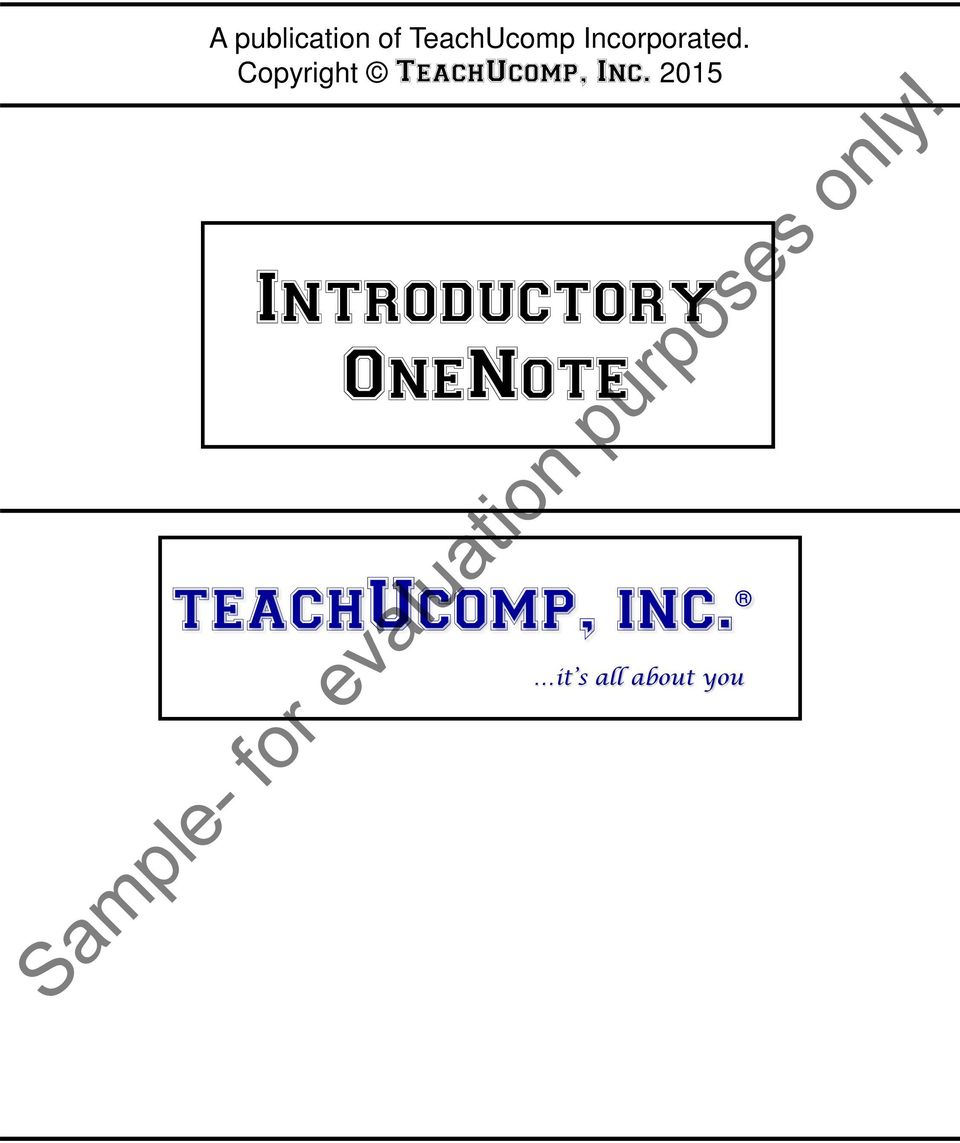 Copyright TeachUcomp, Inc.