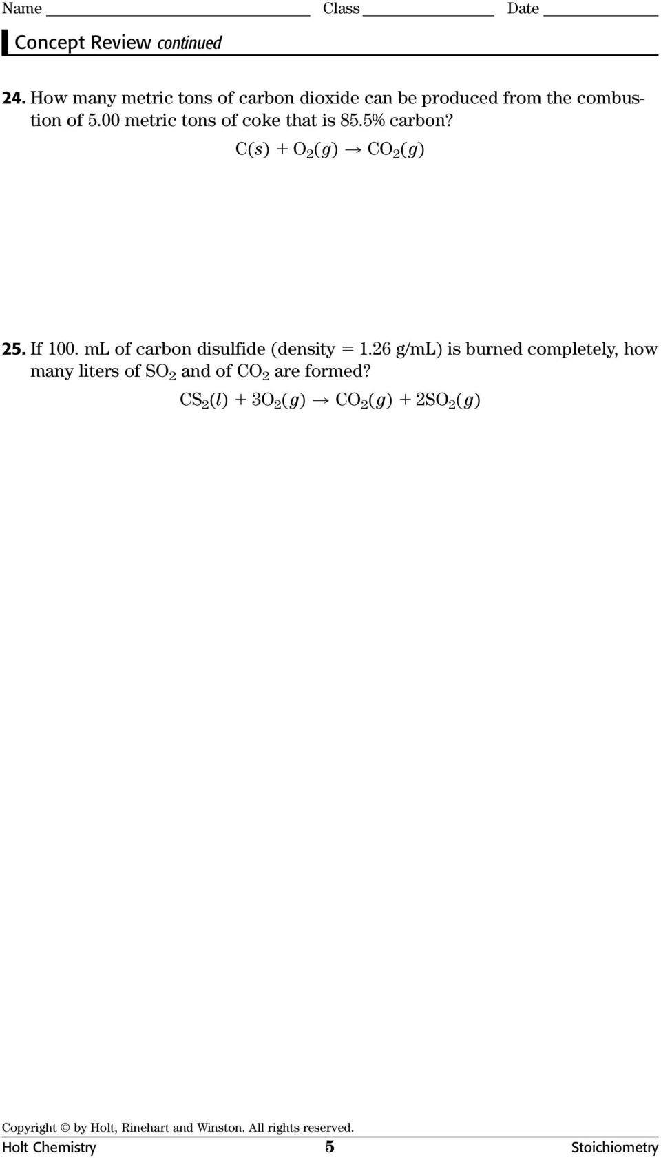 ml of carbon disulfide (density 1.