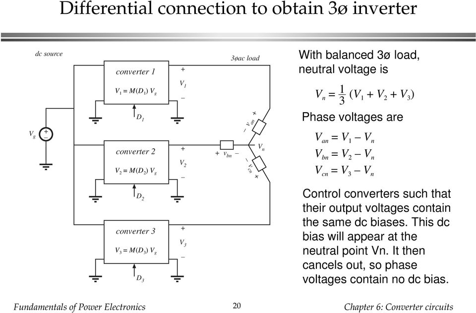 cn = 3 n D 2 converter 3 3 = M(D 3 ) D 3 3 Control converters such that their output voltages contain the same
