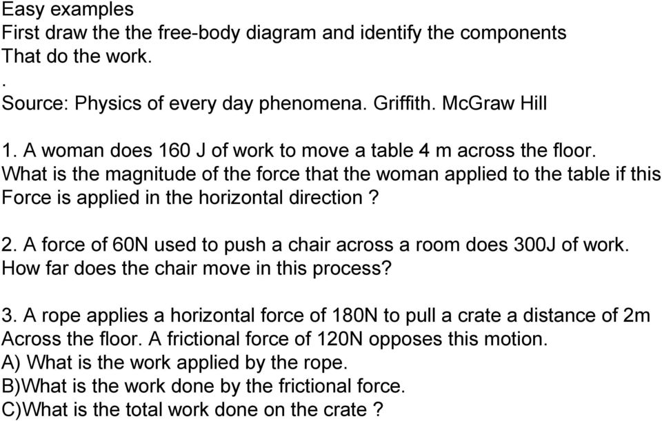 What is the magnitude of the force that the woman applied to the table if this Force is applied in the horizontal direction? 2.