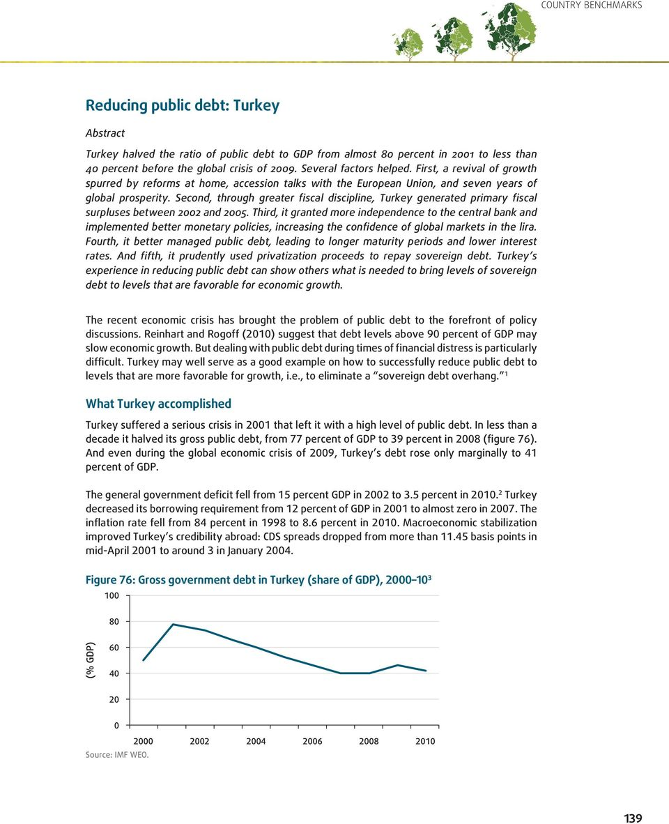 Second, through greater fiscal discipline, Turkey generated primary fiscal surpluses between 2002 and 2005.