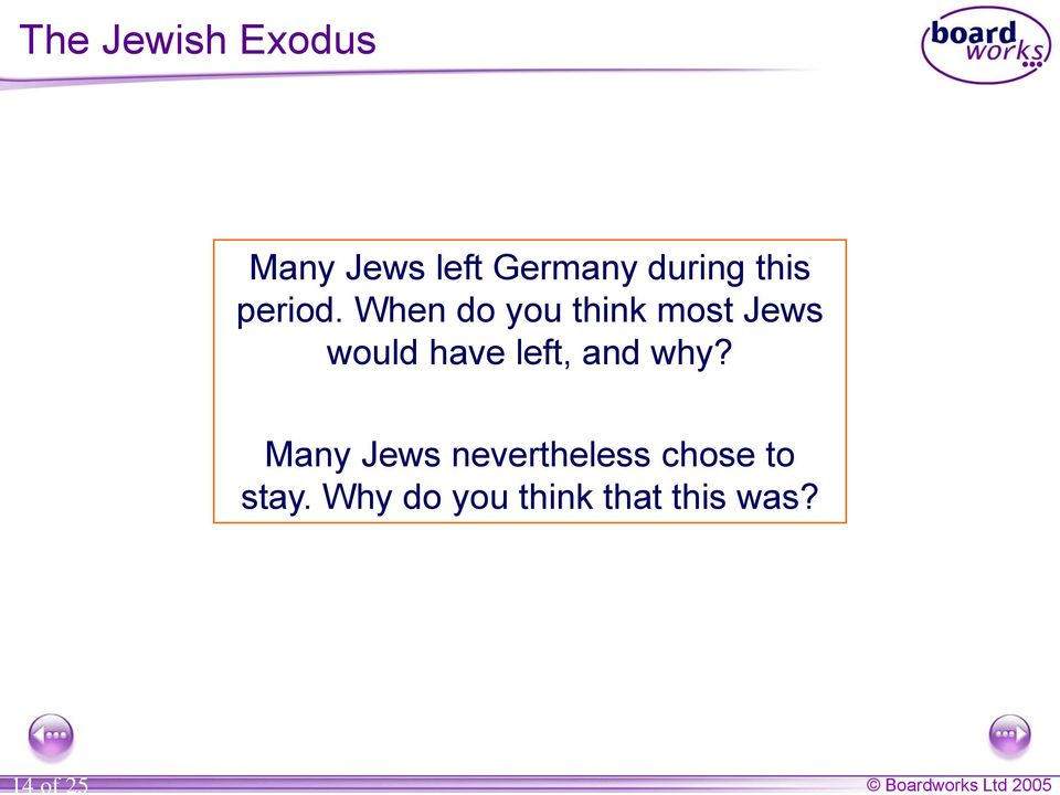When do you think most Jews would have left, and