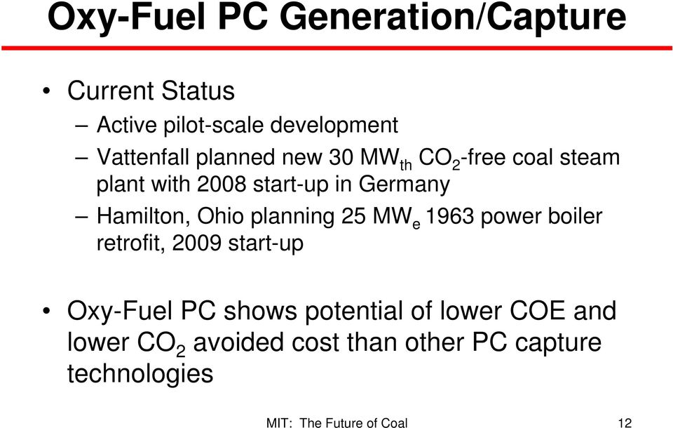 Germany Hamilton, Ohio planning 25 MW e 1963 power boiler retrofit, 2009 start-up