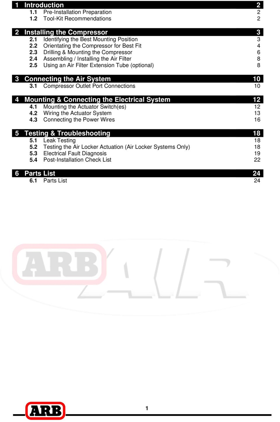 Installation Guide Ckmta12 24 Pdf Arb Air Locker Wiring Harness 5 Using An Filter Extension Tube Optional 8 3 Connecting The System