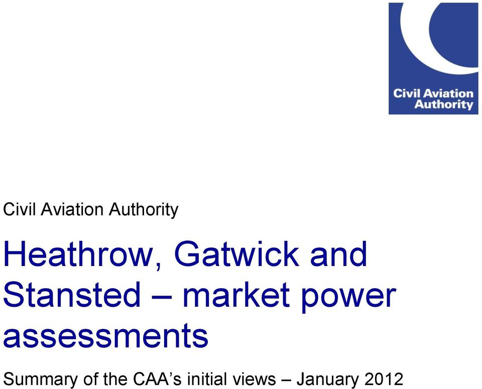 market power assessments