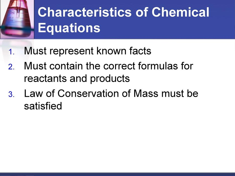 Must contain the correct formulas for