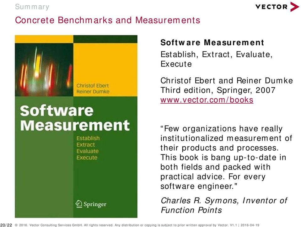 "This book is bang up-to-date in both fields and packed with practical advice. For every software engineer."" Charles R."