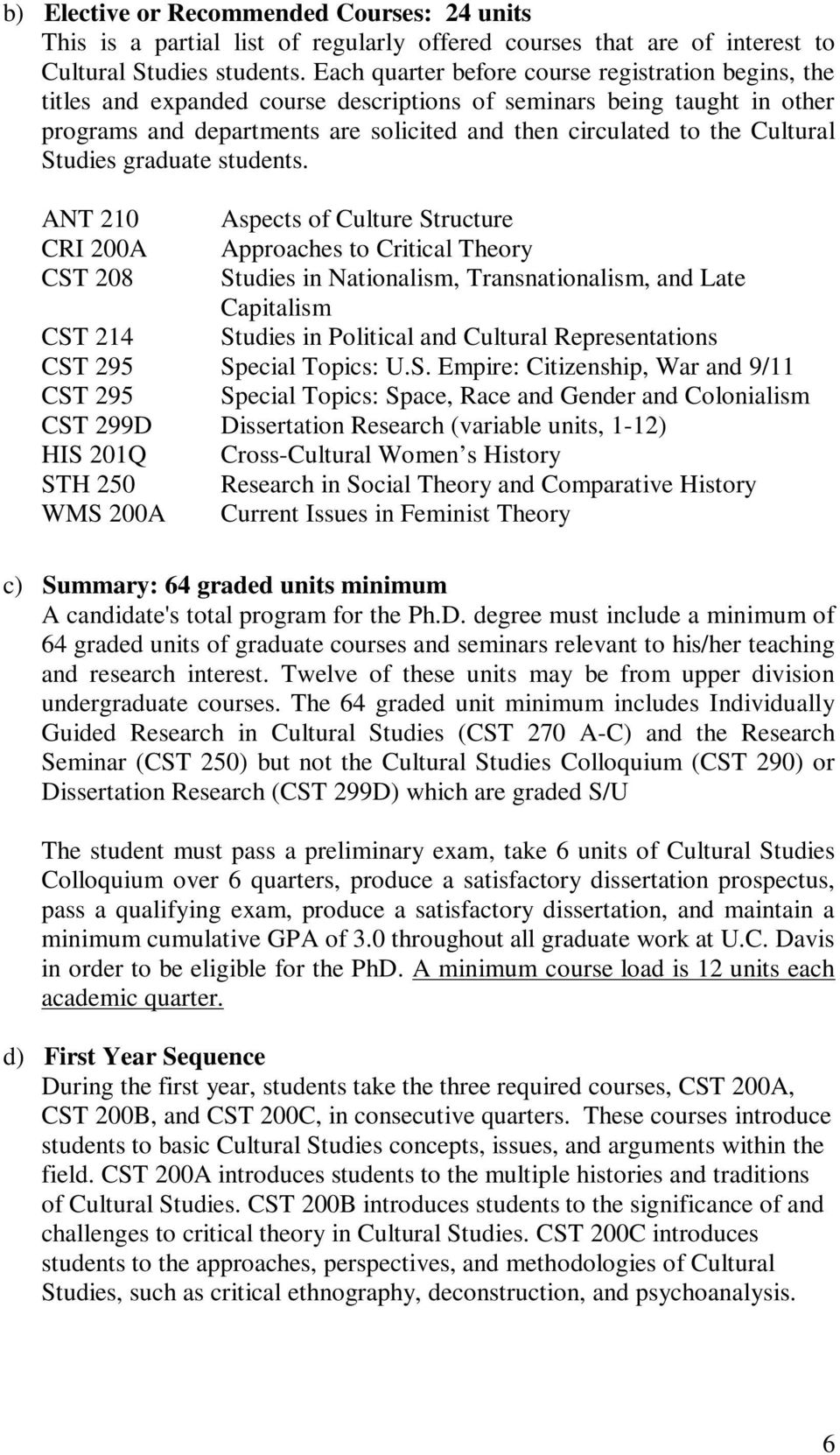 Cultural Studies graduate students.