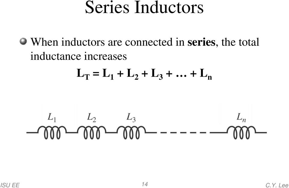 series, the total inductance