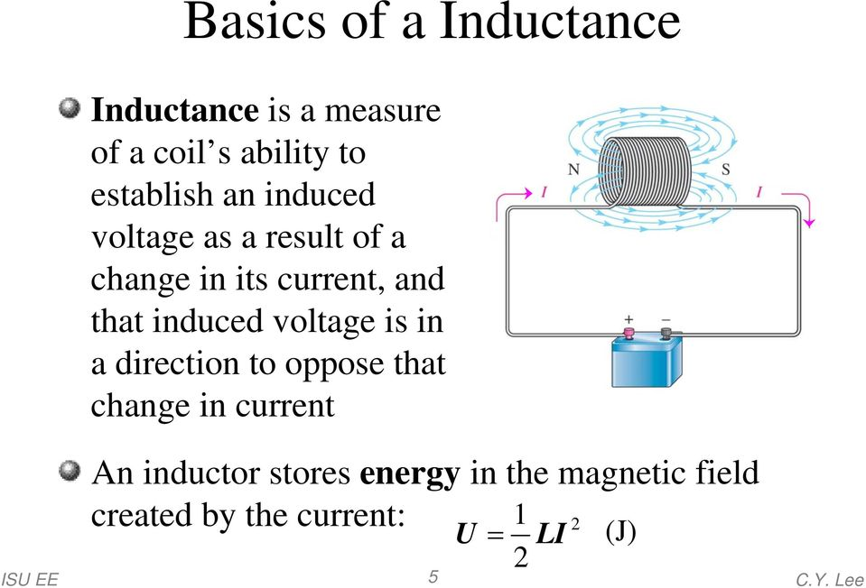 that induced voltage is in a direction to oppose that change in current An