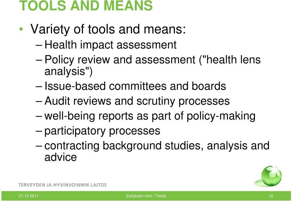 scrutiny processes well-being reports as part of policy-making participatory processes