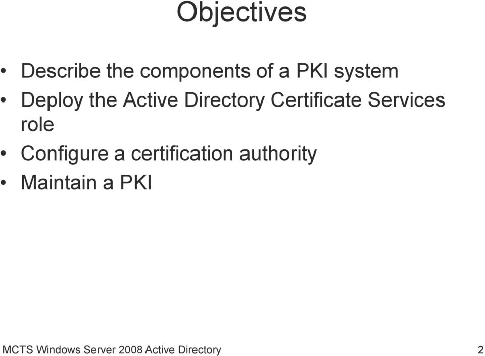 Services role Configure a certification authority