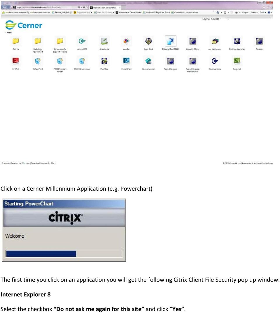 get the following Citrix Client File Security pop up window.