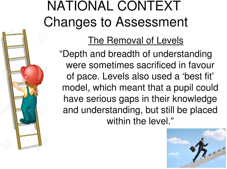 Levels also used a best fit model, which meant that a pupil could have