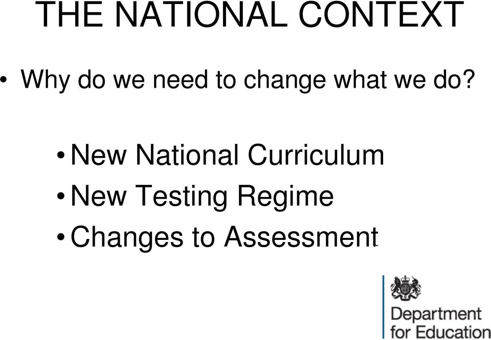 New National Curriculum New