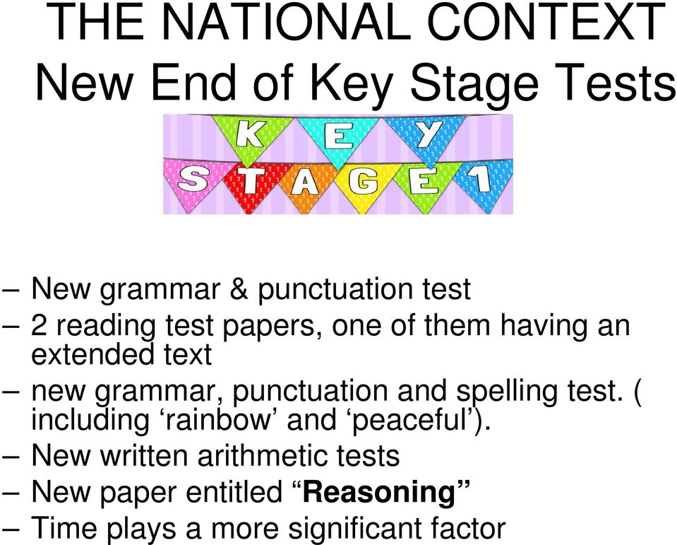 punctuation and spelling test. ( including rainbow and peaceful ).