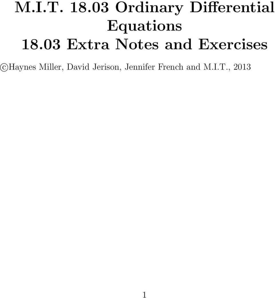 8.03 Extra Notes and Exercises c
