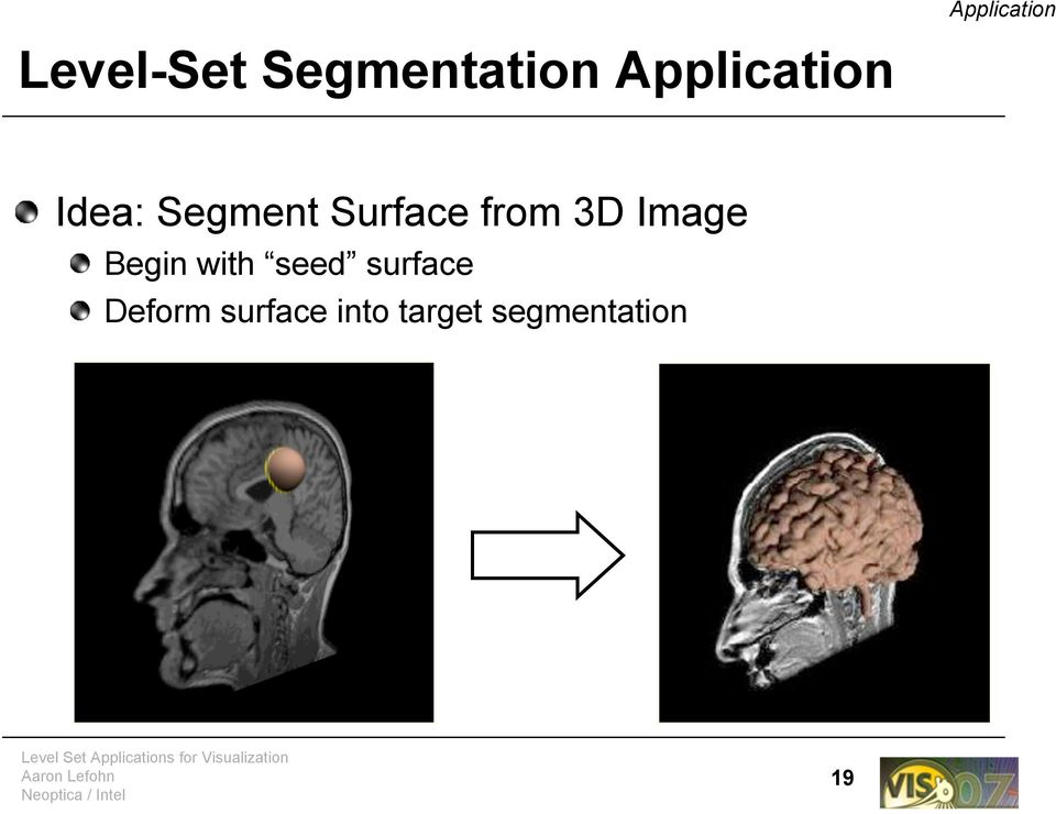 from 3D Image Begin with seed surface
