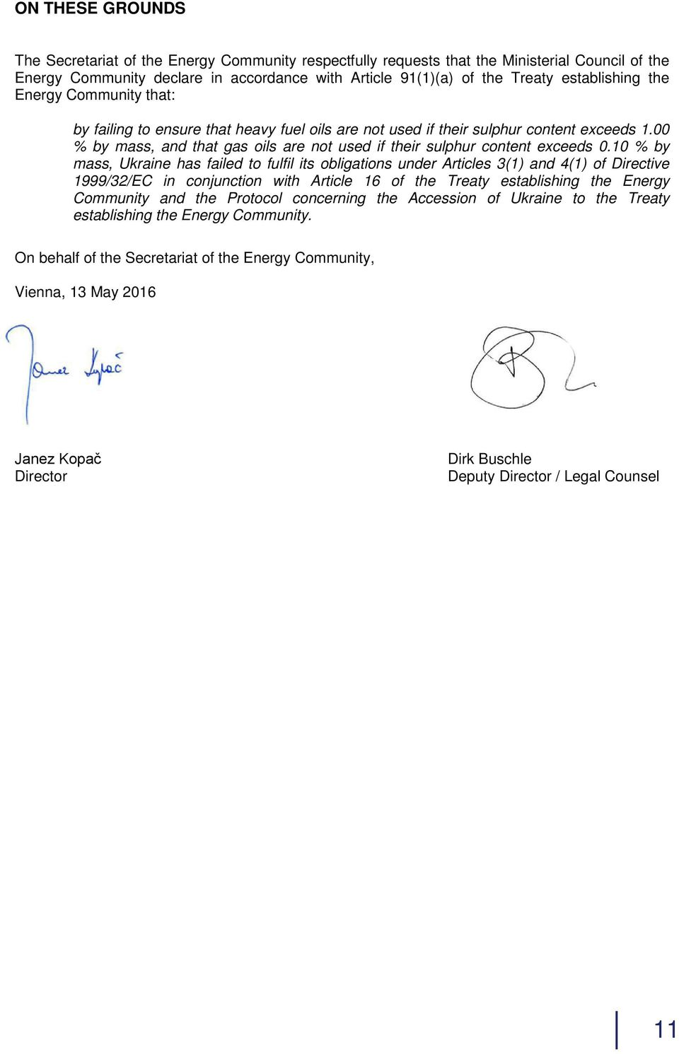 00 % by mass, and that gas oils are not used if their sulphur content exceeds 0.