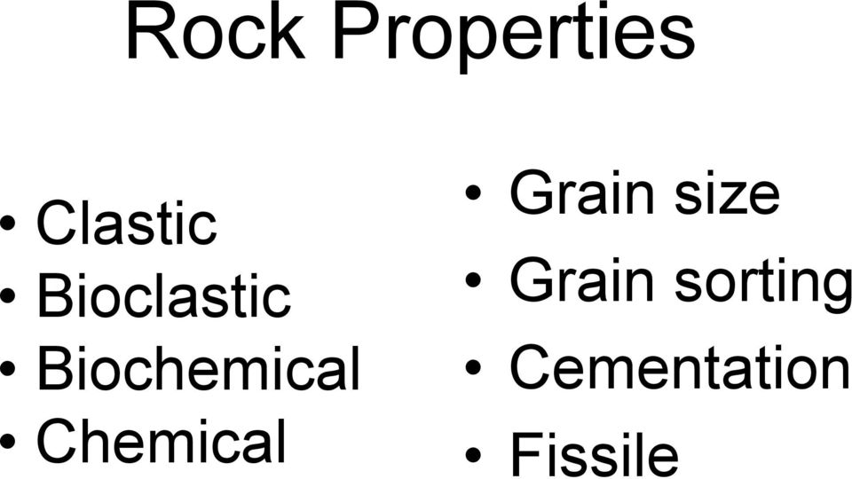 Chemical Grain size