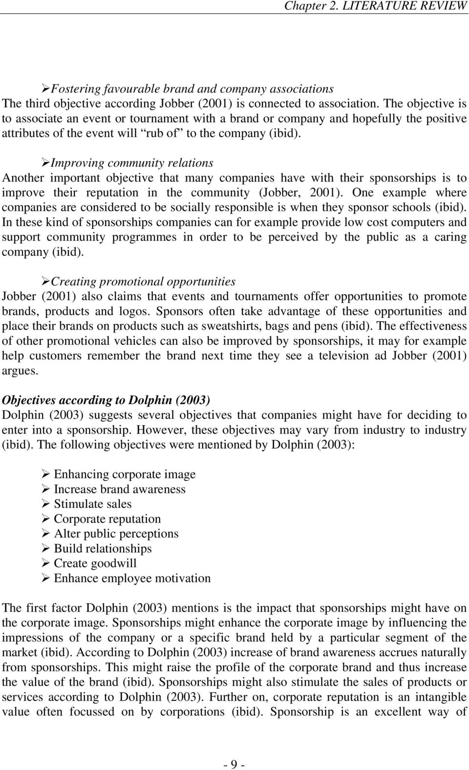 sport sponsorship thesis A study on decision making about sport sponsorship by a study on decision making about sport sponsorship by african sport sponsorships doctoral thesis.