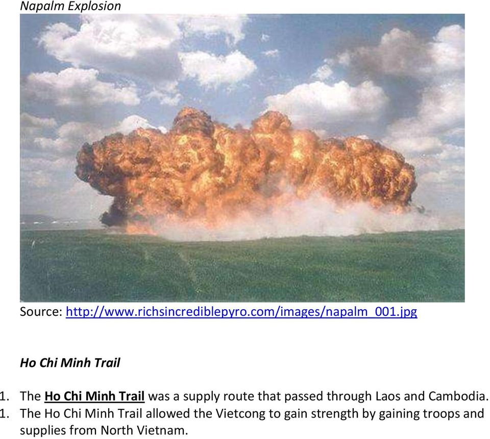 The Ho Chi Minh Trail was a supply route that passed through Laos and