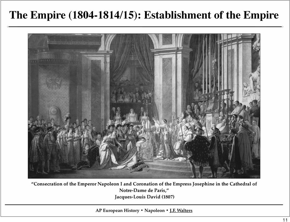 Coronation of the Empress Josephine in the