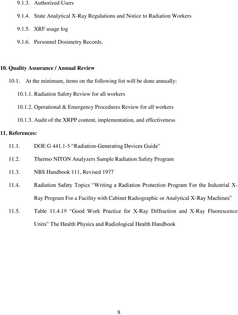 The University Of Southern Maine Xrf X Ray Radiation Protection