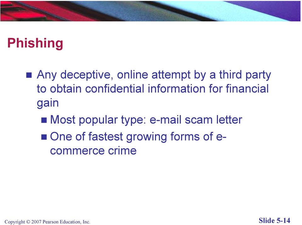 popular type: e-mail scam letter One of fastest growing forms
