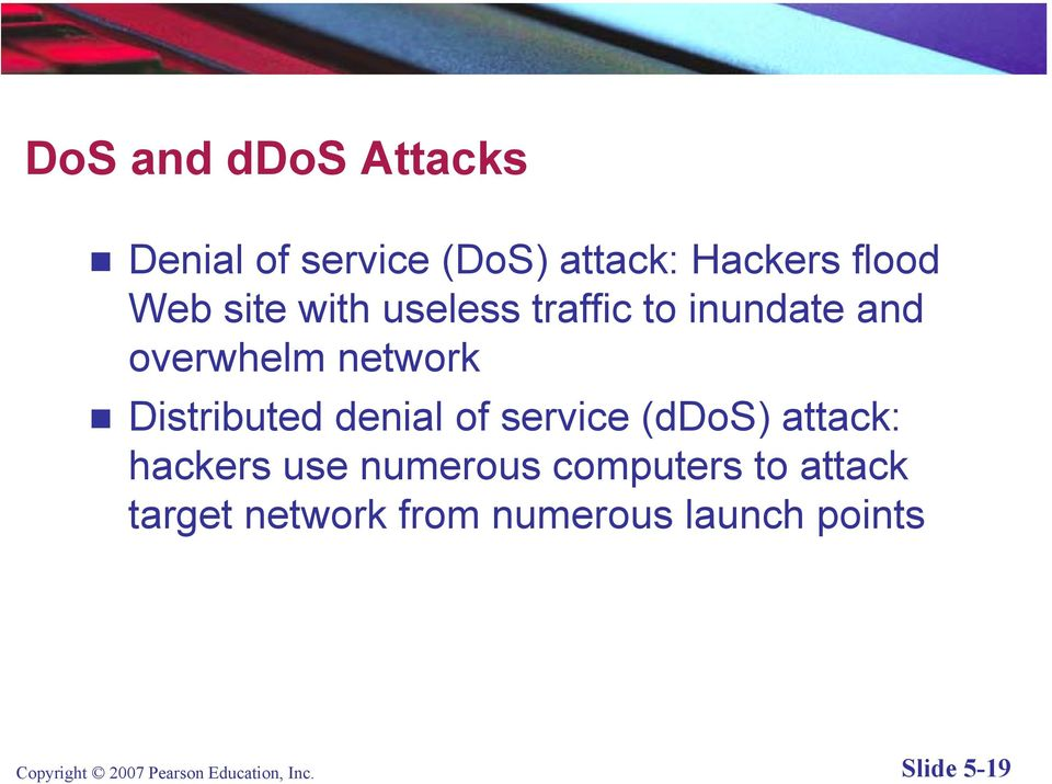 service (ddos) attack: hackers use numerous computers to attack target