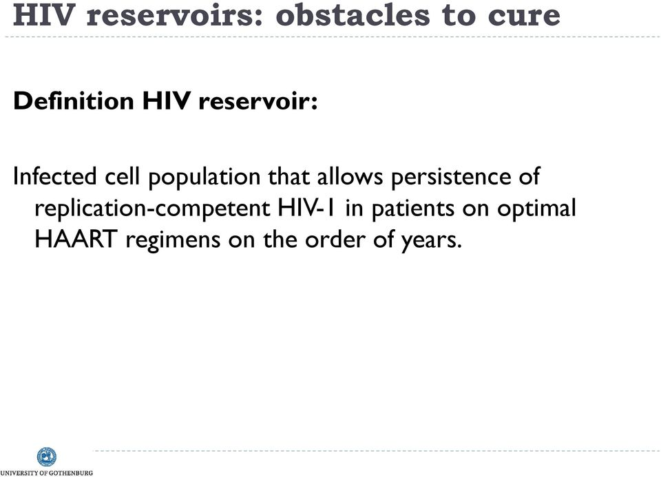 persistence of replication-competent HIV-1 in