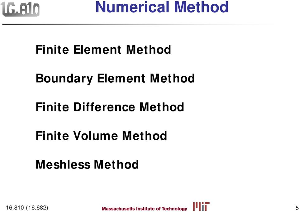Finite Difference Method Finite