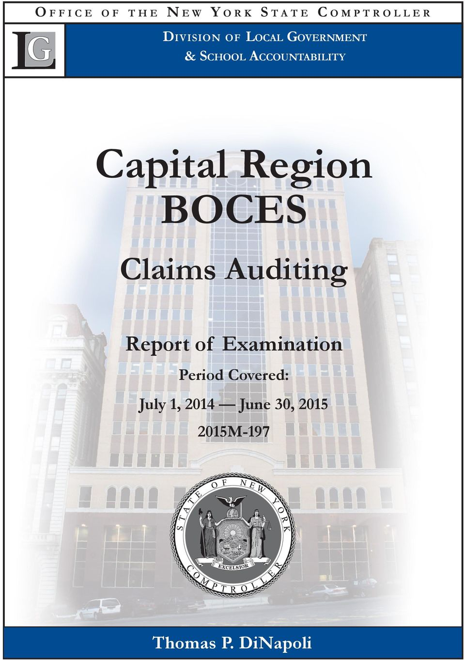 Capital Region BOCES Claims Auditing Report of Examination