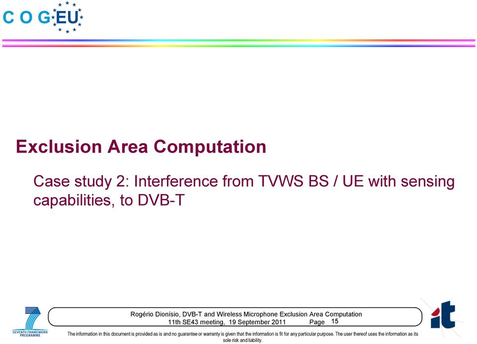 with sensing capabilities, to DVB-T