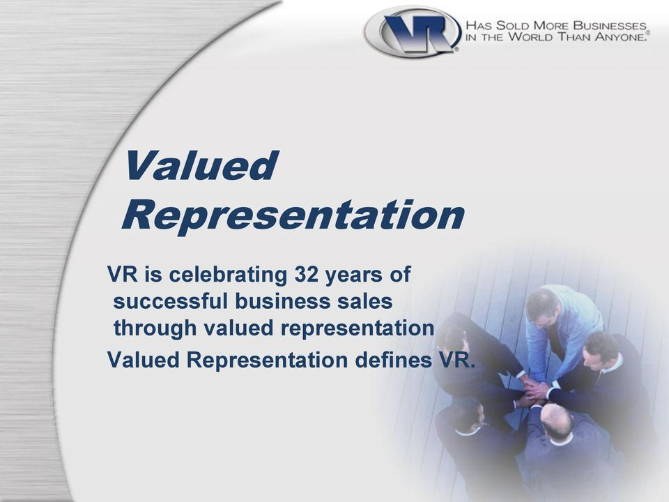 business sales through valued