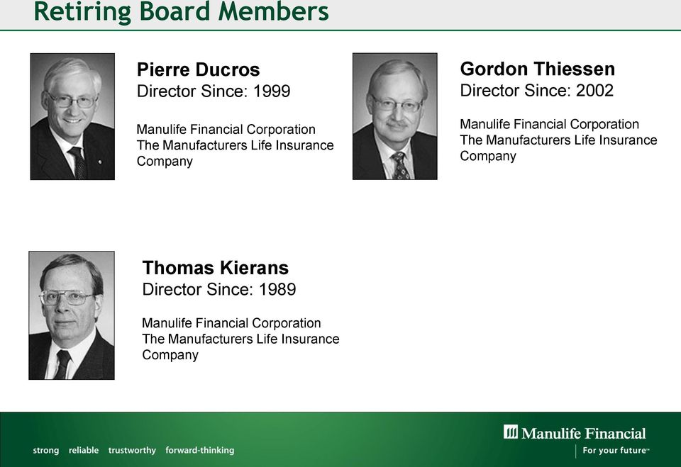 2002 Manulife Financial Corporation The Manufacturers Life Insurance Company Thomas