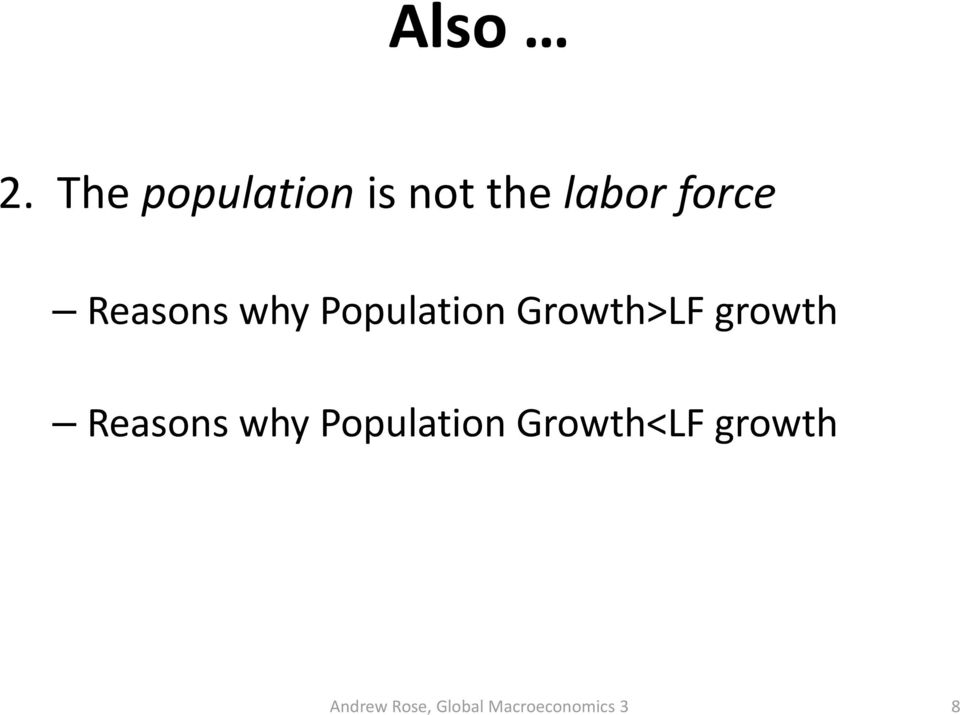 force Reasons why Population