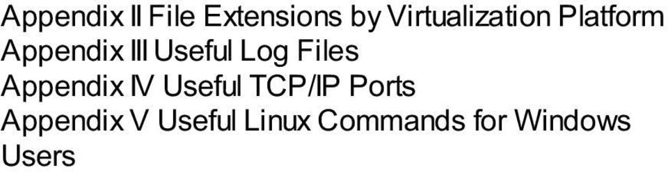 Useful Log Files Appendix IV Useful