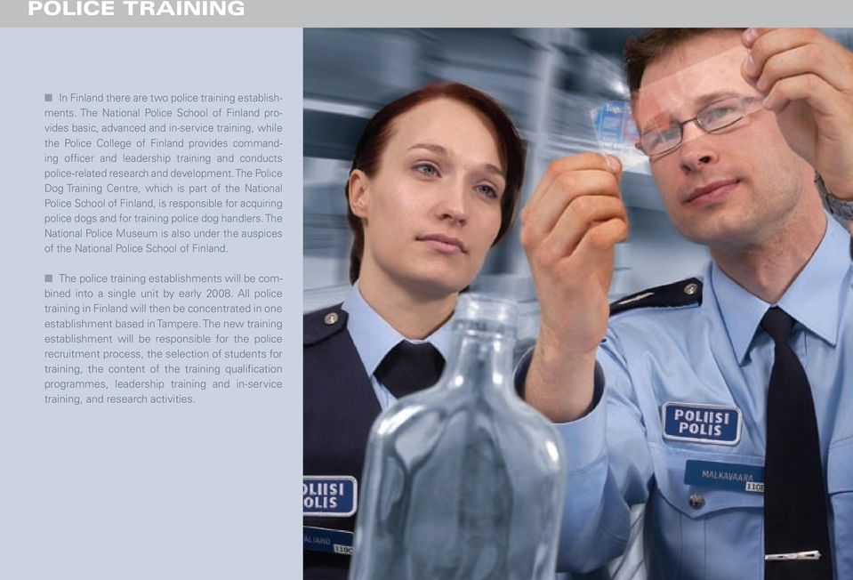 police-related research and development.