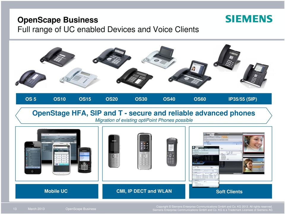 and reliable advanced phones Migration of existing optipoint Phones