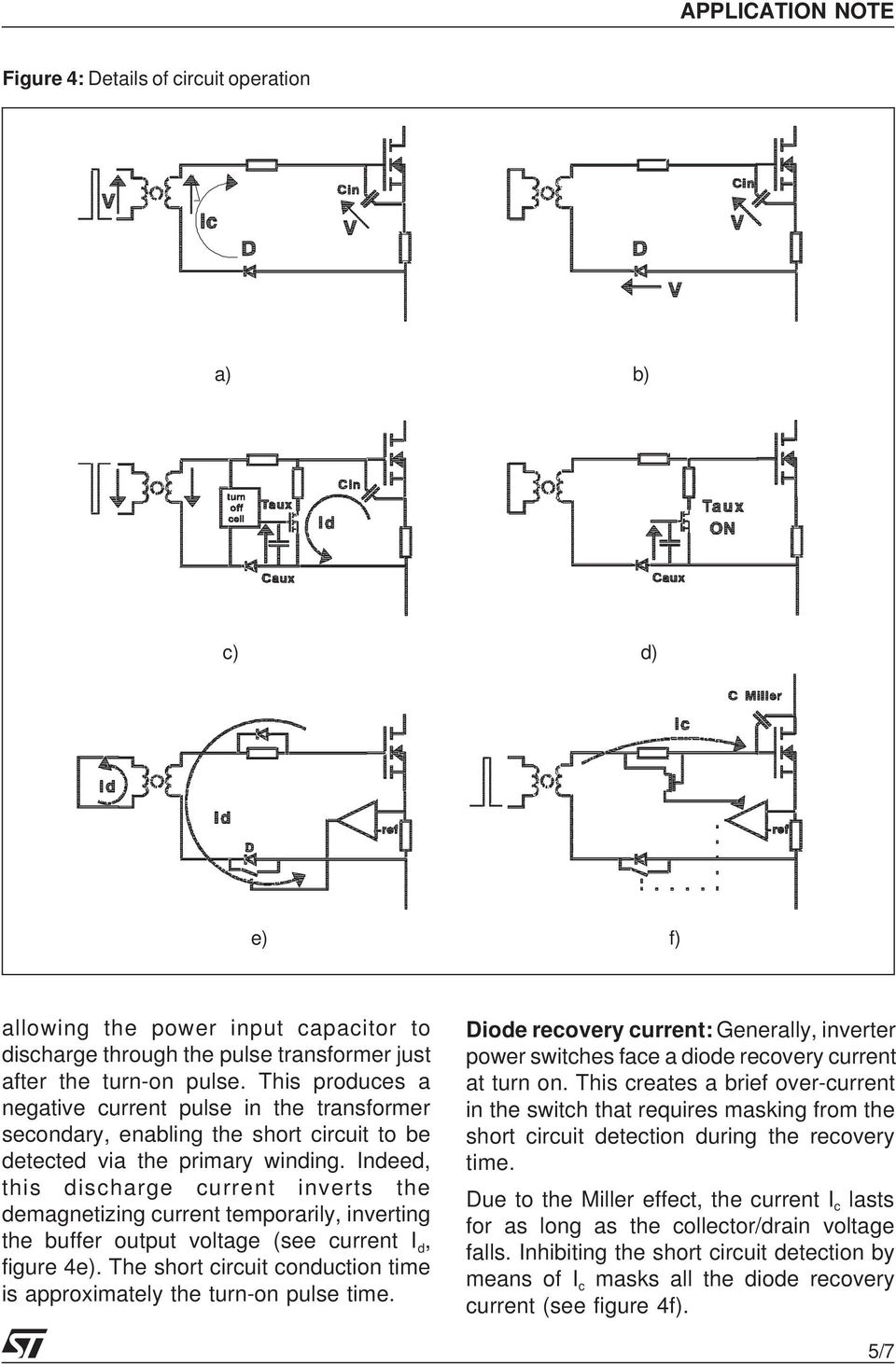An Isolated Gate Drive For Power Mosfets And Igbts Pdf Mosfet Switching Short Circuit Protection Need Help Indeed This Discharge Current Inverts The Demagnetizing Temporarily Inverting Buffer Output Voltage