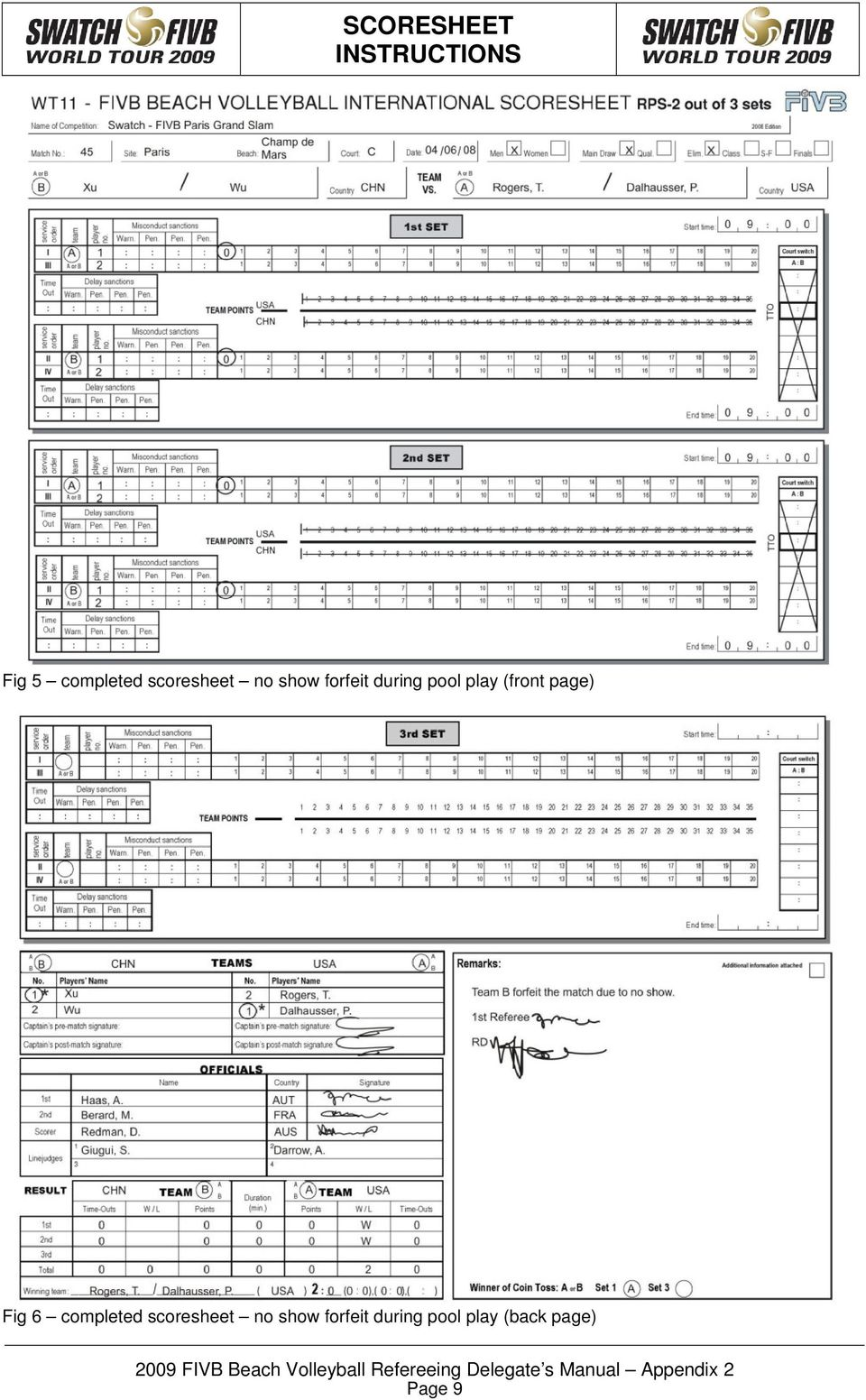 Fig 6 completed scoresheet no show