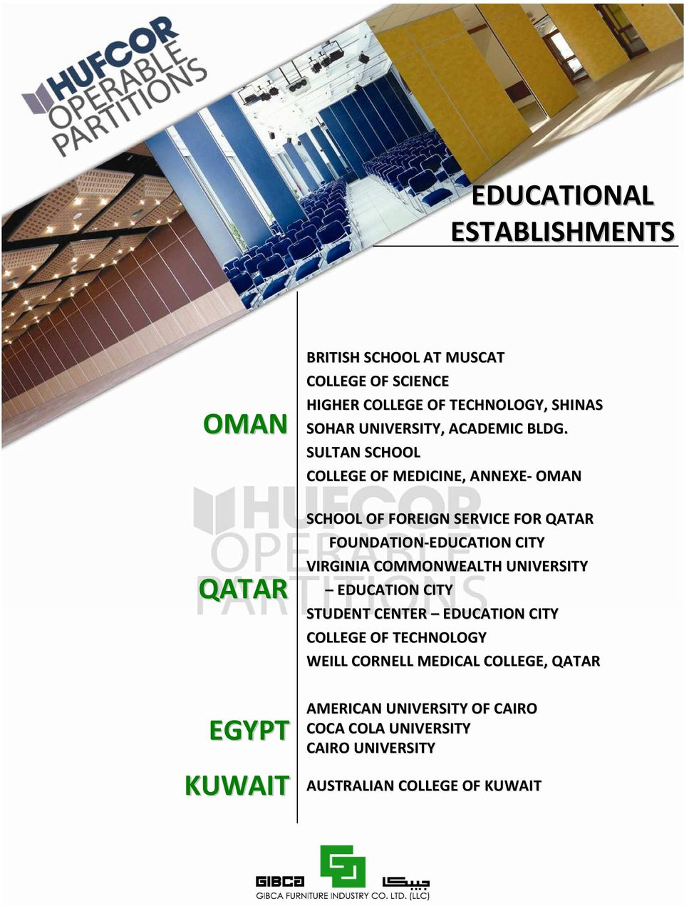 SULTAN SCHOOL COLLEGE OF MEDICINE, ANNEXE- OMAN SCHOOL OF FOREIGN SERVICE FOR QATAR FOUNDATION-EDUCATION CITY VIRGINIA