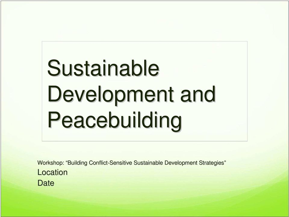 peace building and community development essay Civil society, civic engagement, and peacebuilding conflict and development issues papers in this thania paffenholz teaches peace and development studies.
