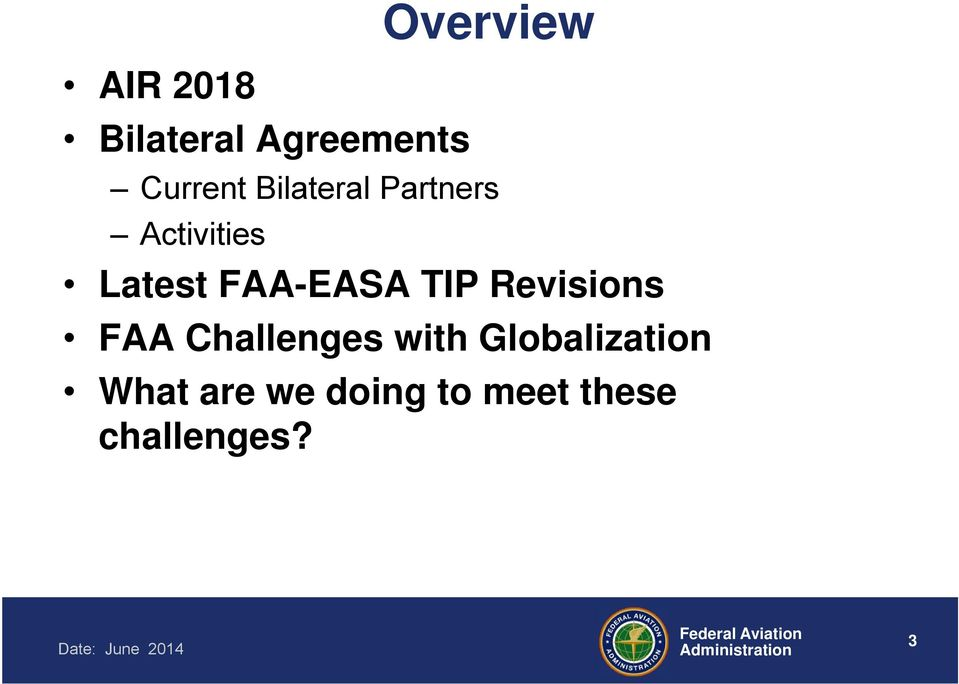TIP Revisions FAA Challenges with