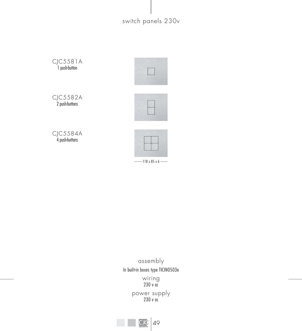 Bande Switch Panel With Flat Push Button Cjcsystems Com Pdf 4 Gang Wiring Diagram