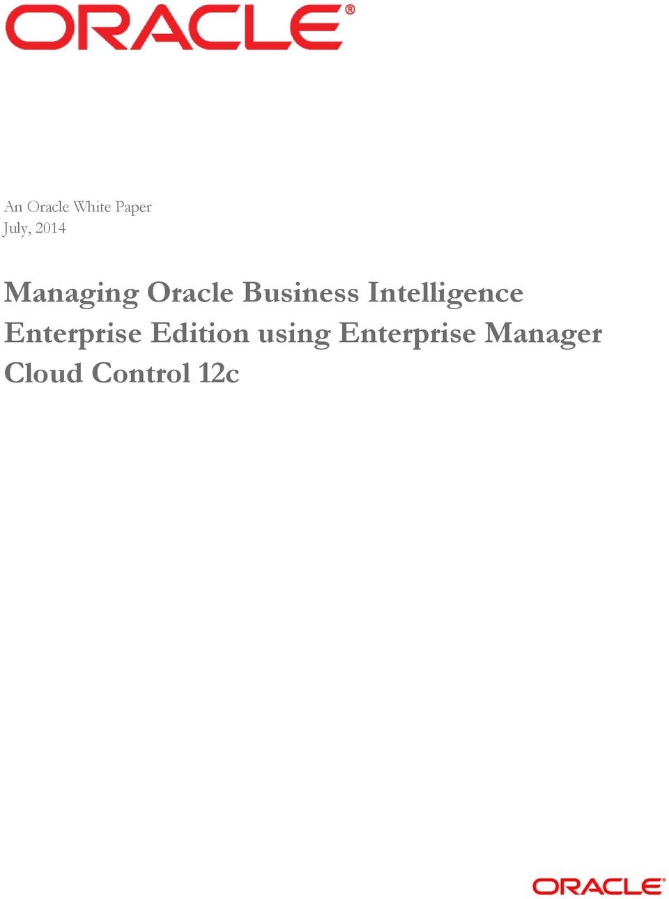 Intelligence Enterprise Edition