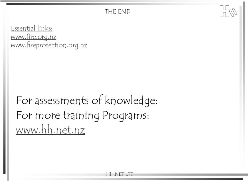 nz For assessments of knowledge: For